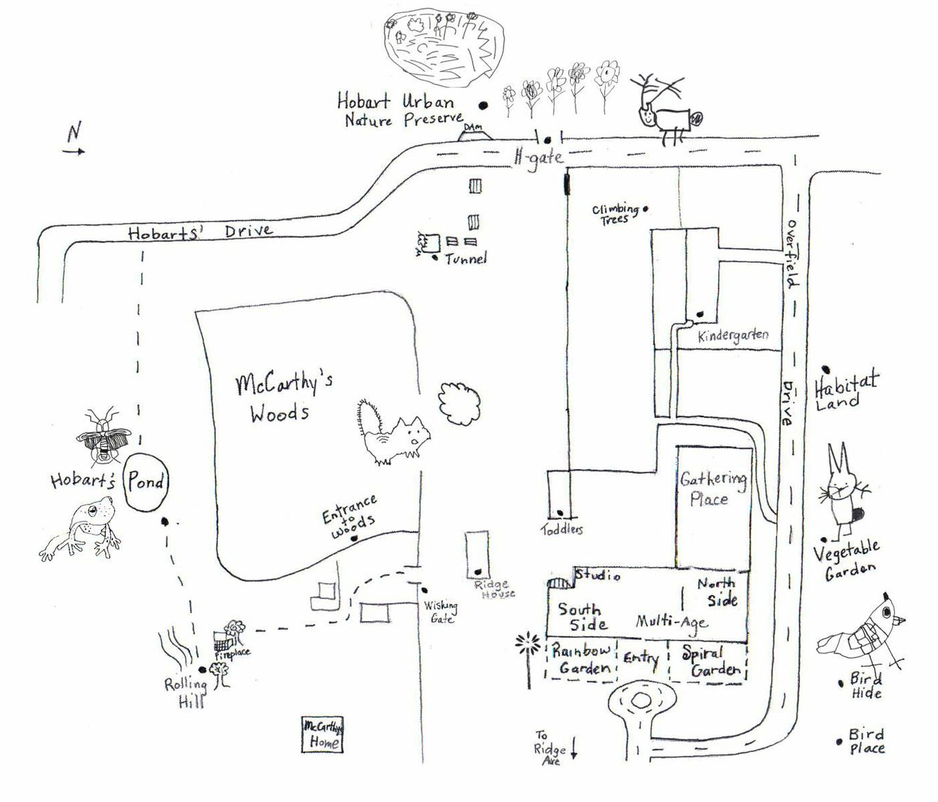 Overfield Campus Map